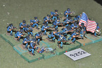 25mm ACW / mexican - american war US infantry 24 figs metal painted - inf (9252)