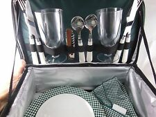 Nwot Harry & David 14 piece Picnic Set 2 complete settings w Insulated case