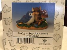 "Charming Tails ""You'Re A True Blue Friend"" Signed By Dean Griff Spring Bird"