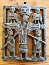 Vintage Irish Folk Art Plaque Carved Mythology Druid Gaelic Celtic