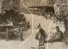 20x17 Frank HURLEY Vintage Archiv Foto 1923 New Guinea Village Main Street photo
