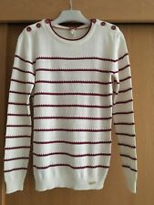 Ness Maryfield stripe jumper - Pink and Cream - Xtra Small - New with Tags.