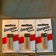 lot of 3 Energizer 2-Pack Aaaa Size Alkaline Batteries (E96Bp-2)