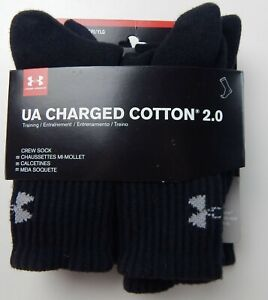 Under Armour Youth UA Charged Cotton 2.0 Crew Socks, Large