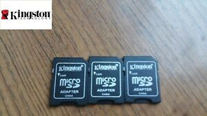 3x New Kingston MicroSD To SD Adapter Converter For 2GB And Higher SDHC SDXC