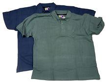 algodón hombre con botones manga corta Polo Camisa Top Talla Grande XXL XXXL
