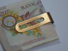 24K Gold Plated Money Clip Slim Cash  Credit Card Holder Wallet Stainless Steel