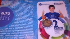 2 euros conmemorativos 2012 en cartera