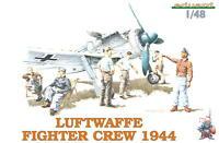 Eduard Luftwaffe Fighter Crew 1944 6 Soldaten Figuren Modell-Bausatz Jäger 1:48