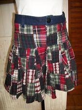 Mini jupe en coton ecossais à volants TEDDY SMITH 16 ans XL ou 36 38
