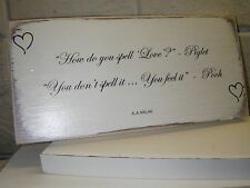 Shabby Chic Winnie The Pooh Quote Plaque. Wedding Gift Sign. 100% Solid Wood. #4