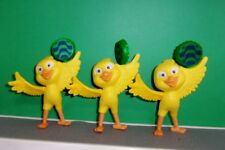 2011 McDonalds RIO NICO Yellow Canary Bird LOT OF 3 ACTION SPINNERS CAKE TOPPERS