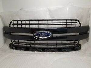 New Take Off Original Grille Fits 2018 2019 2020 Ford F150 AGATE METALLIC BLACK