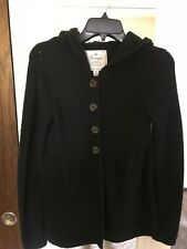 Energie Women's Black Knitted Button-Down Warm Winter Casual Sweater S Size