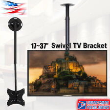 """TV Ceiling Mount Height Adjustable and Tilt for LCD LED Flat Screen 17"""" to 37"""""""