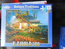 """WHITE MOUNTAIN PUZZLE 300 PIECE TERRY REDLIN """"AUTUMN TRADITIONS"""" 18""""X24"""" EZ HOLD"""