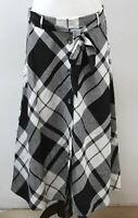 HOBBS Ladies Black White Cotton Blend Check Lucia  A-line Skirt UK12 BNWT
