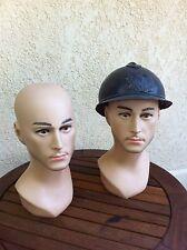 Têtes de mannequin homme lot de 2 têtes sans le casque
