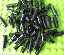 New LEGO Technic Pins x50 Black Friction Ridges Center Slots Mindstorm Part 2780
