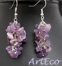 Amethyst Natural Fine Earrings