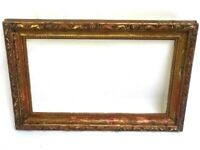 """Antique Guilt Wood and Gesso Picture Frame 25"""" x 17"""" [6828]"""