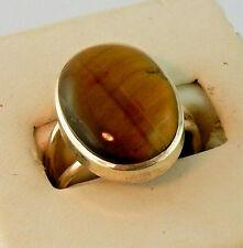 Tiger's eye cabochon gemstone size 8 ring chakra