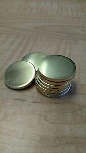 """16 Gauge 2"""" Brass Discs (Lot of 100)"""