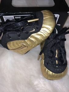 🔥 Nike Lil Posite One Pro- Infant - Size 1c -Metallic Gold- [643145 701]-