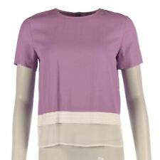 AXARA Top Lilac & White Short Sleeved Size 36 / UK 8 XF 147