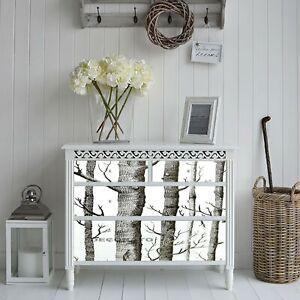 BLACK WHITE TREES FABLON SELF ADHESIVE WALLPAPER STICKY BACK PLASTIC ART DECO UK
