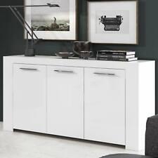 Credenza CRETA moderna mobile madia bianco opaco 3 ante design salotto soggiorno