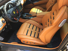 Ferrari FF Custom Hybrid Leather Floor Mats - All weather with carbon fiber