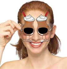 1 Pair Mocha Irish Cream Sunglasses Coffee Unisex Brown Costume Accessory Prop