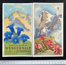 Brochure Touristique Chemin de Fer Wengernalp et Jungfrau en Suisse 1930 / SKI