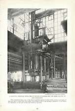 1917 Gigantic Pressure Press For Stamping Cylinders Out Of Steel Plates