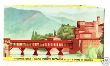 FIGURINA  CARTONATA BRODO STAR SERIE PONTI D'ITALIA  NR  2 PONTE DI BASSANO
