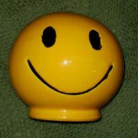 Vintage McCoy Smiley Face Coin Bank BRIGHT