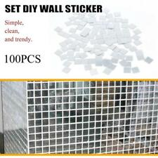 100Pcs/Bag Self Adhesive Mosaic Tile Sticker Home Kitchen Decor Art Wall Decals