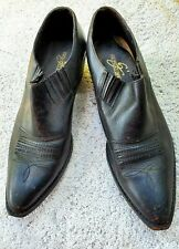 Men's Shoes used Giorgio Brutini Black Pointed Boots Leather SZ 11D