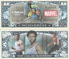 X-Men Wolverine Million Dollar Bill Collectible Fake Funny Money Novelty Note