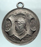 1928 GERMANY Otto Von Bismarck Easter Moon Female with Sword Silver Medal i82128