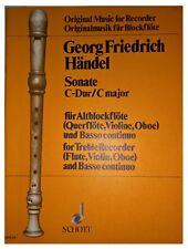 Sonate C-Dur / C major minor Opus 1 no 7 - für Altblockflöte (Querflöte, Violine