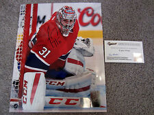 CAREY PRICE Montreal Canadiens SIGNED Autographed 8x10 photo w/ FRAMEWORTH COA