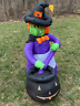 Halloween 4 ft Inflatable Witch w/ Cauldron Airblown Outdoor Yard Decor
