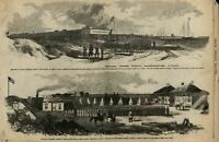 Civil War in Florida Fort Clinch Amelia Island 1862 Leslie's old scarce print