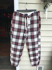 $48 ABERCROMBIE & FITCH Men's CHECK  SLEEP JOGGERS Pant SIZE XL