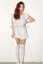 Over The Knee Socks Cotton Socks Thigh High Ladies Long Womens Stocking 0hk White