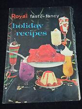 Vintage Royal Fast & Fancy Holiday Recipes Booklet Insert