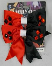 DC Comics Batman Harley Quinn Cosplay Ribbon Bow Tie Hair Costume Dress Up New