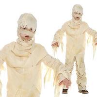 Kids Egyptian Mummy Costume For Boys or Girls Halloween Book Week Fancy Dress